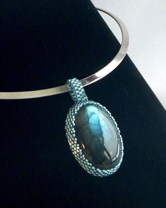 Mystic Waters Precious Gemstone Necklace by Tamara D'Antoni