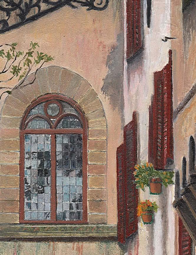 Florentine Alley original painting by Philip Jostrom