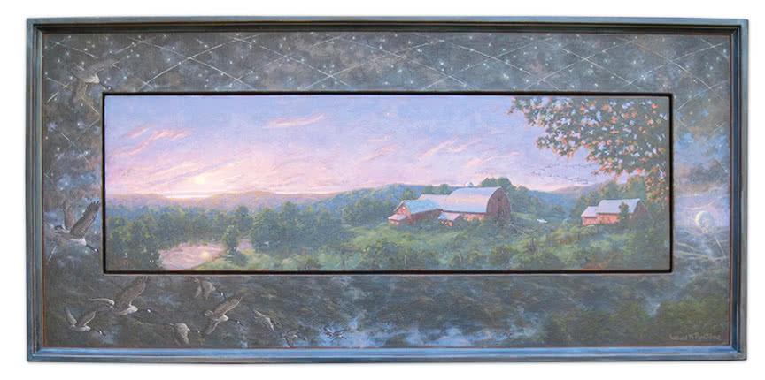 Celestial Navigation Red Barns Sunset Landscape by Louis N. Pontone